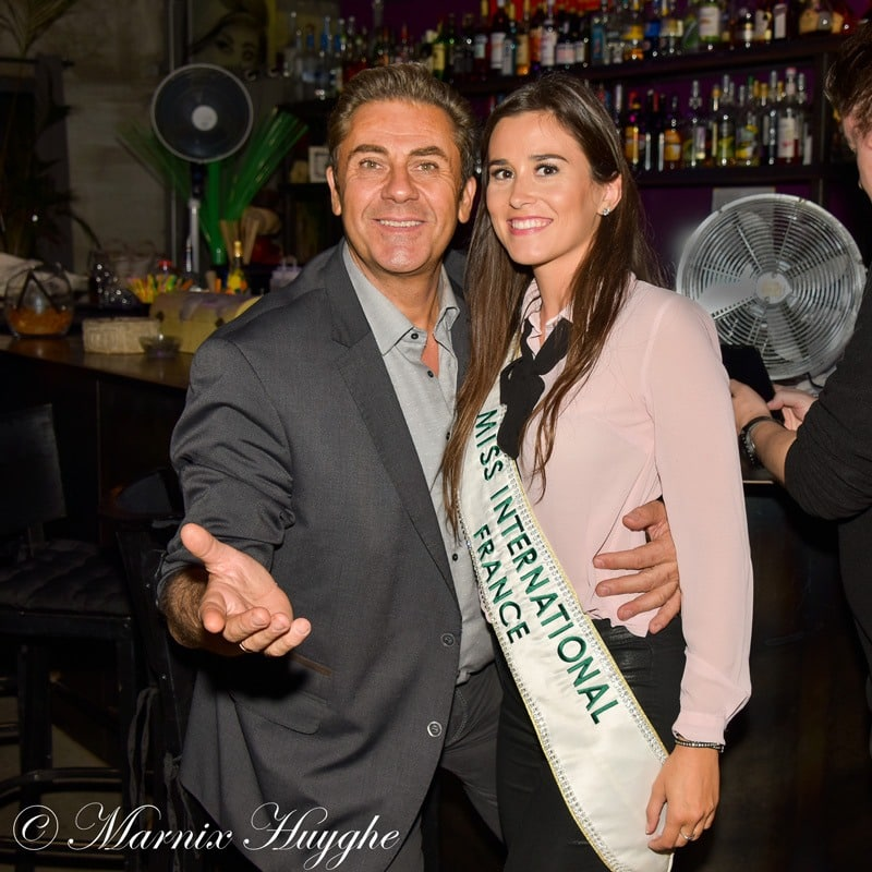 Miss International France et Claude Thomas