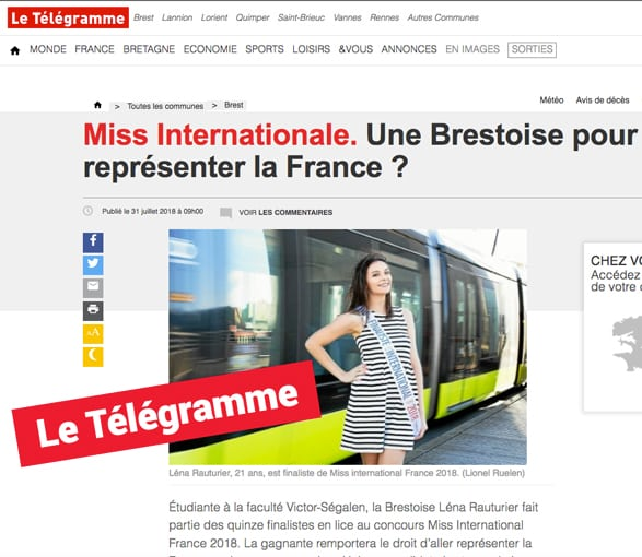 Miss International Telegramme Brest
