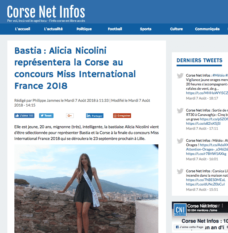 Miss International Corse